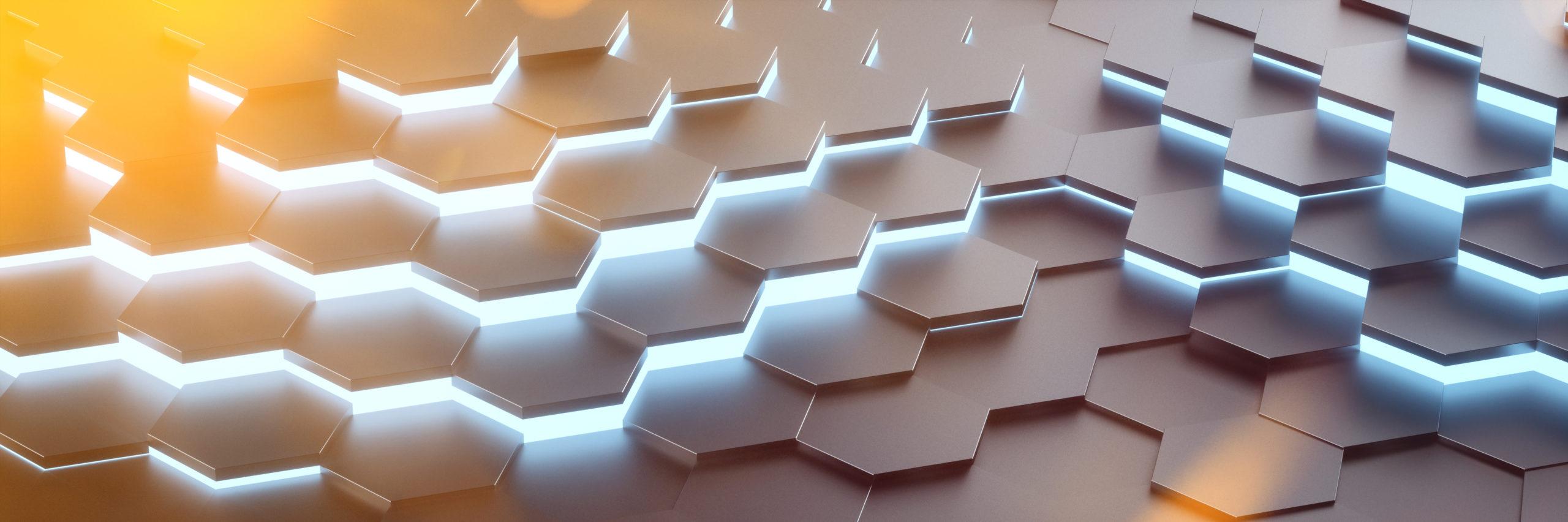 Digital Future Hexagon Hintergrund